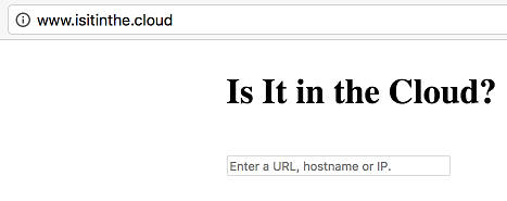 isitinthe.cloud home page