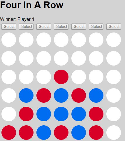 four-in-a-row finished game
