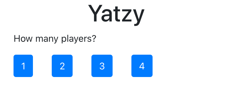 Selecting the number of players.